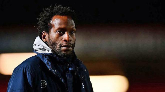 Ehiogu, en un entrenamiento del filial del Tottenham