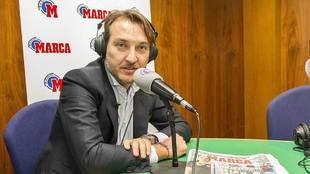 El presidente granota Quico Catalán, en los estudios de Radio Marca...