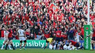 La 'Red Army' celebra el pase de Munster a semifinales en...