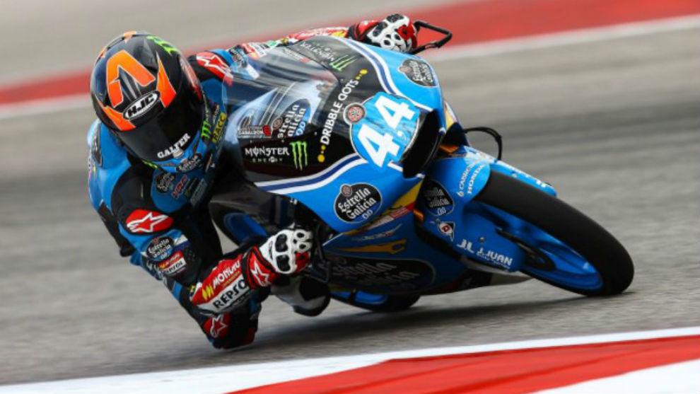 Aron Canet, piloto español de Moto3