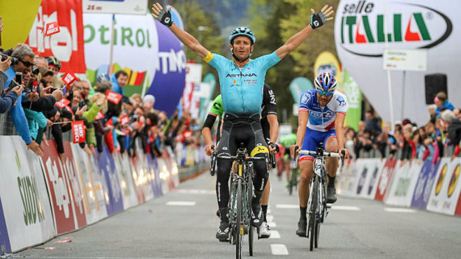Scarponi claimed victory in stage one of the Tour of the Alps last...