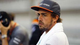 Fernando Alonso, durante el pasado GP de Bahréin