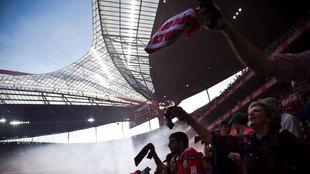 Aficionados del Benfica durante un partido