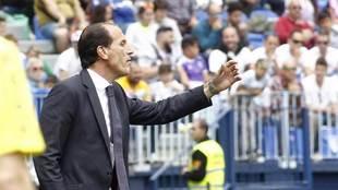 Voro, durante el encuentro ante el Málaga.