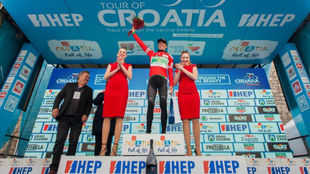 Jaime Ros�n, tras la tercera etapa de la Vuelta a Croacia.