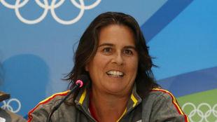 Conchita Mart�nez, capitana de los equipos de Copa Davis y FedCup.