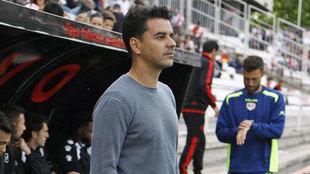 Michel, durante el partido contra el Lugo