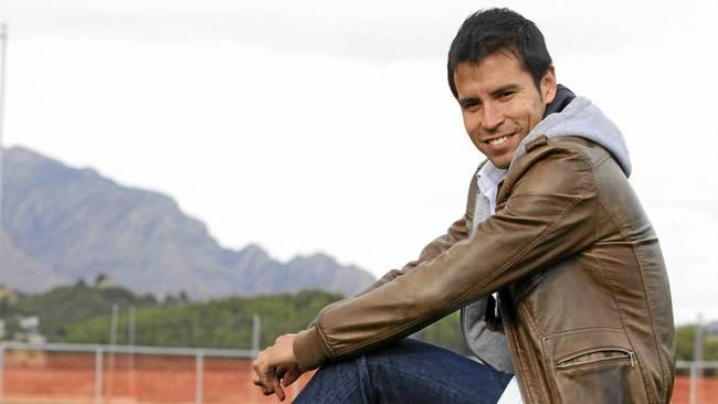 Javier Saviola (35) posa sonriente