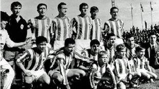 Alineación del equipo que consiguió el ascenso: Zubiarrain...