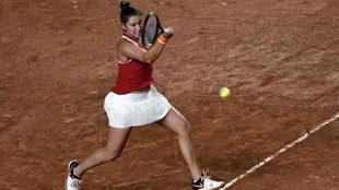 Sara Sorribes en un partido de Copa Federaci�n ante Francia.