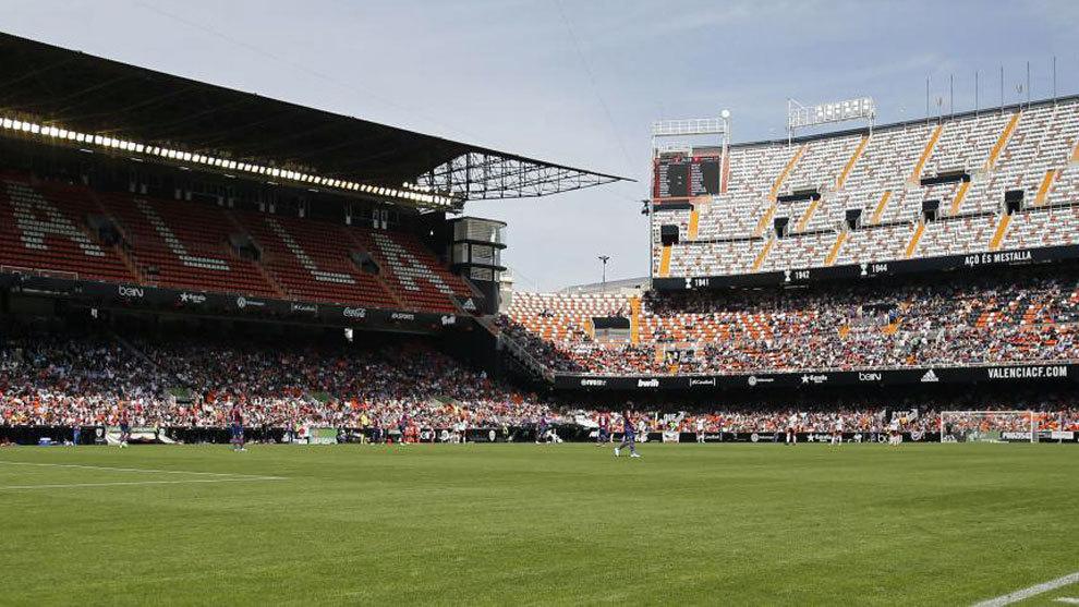 Imagen de Mestalla en el partido ante el Levante de la Liga Iberdrola