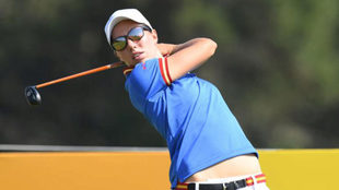 Carlota Ciganda durante un torneo.