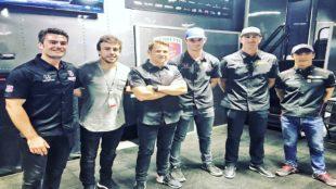 Fernando Alonso, junto al resto de pilotos del equipo Andretti.