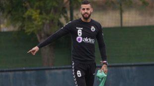 Borja Granero, durante un entrenamiento.