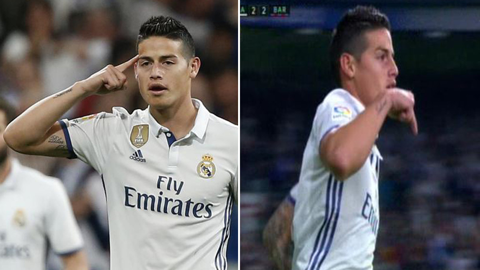 james rodriguez sends message to daughter in clasico celebration