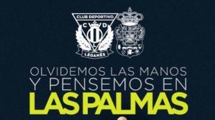 Cartel on-line del C.D. Leganés.