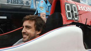 Fernando Alonso, en el GP de Alabama de la IndyCar.