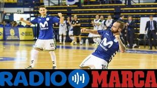 Ricardinho celebra un gol la presente temporada