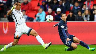 Di María en el partido contra el Montpellier del pasado sábado