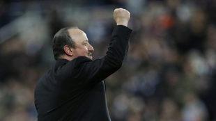 Rafa Benítez celebró así el ascenso del Newcastle