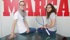 Marina de Juan y Cristina Gómez en su visita a la redacción de...