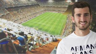 Gayá posa en la ciudad deportiva de Paterna.