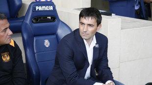 Garitano en el partido contra el Villarreal