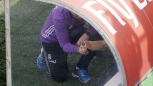 A Morata le vendan el pie durante el entrenamiento
