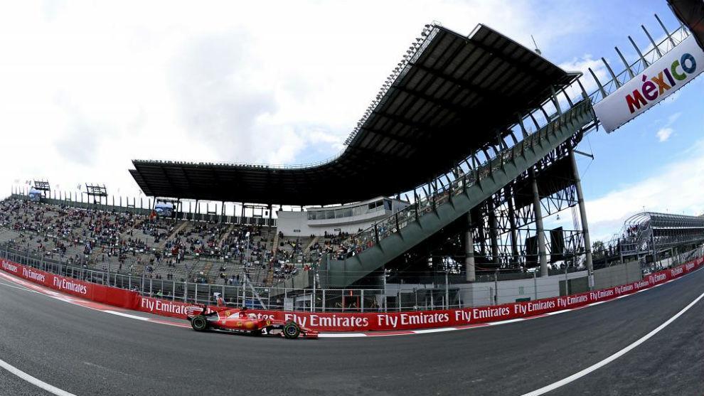 Imagen de una prueba en el circuito Hermanos Rodríguez.