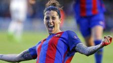 Jenni Hermoso celebra un gol esta temporada.