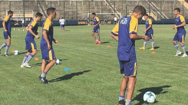 Los jugadores del Atlanta, durante un entrenamiento
