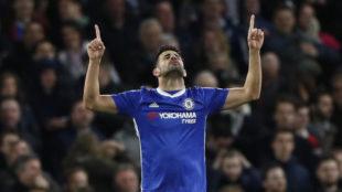 Costa celebra uno de sus goles al Southampton.