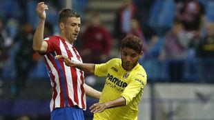 Jona dos Santos, con Gabi en el partido ante el Atlético de este...
