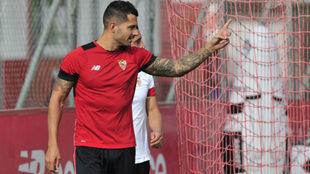 Vitolo, en la Ciudad Deportiva.