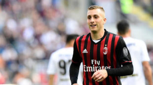 Deulofeu con el Milan esta temporada