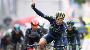 Michael Albasini, vencedor de la primera etapa del Tour de Romandía...