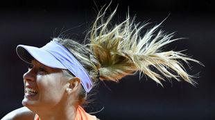 Sharapova,durante el partido