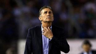 Bauza, en un partido de Argentina.