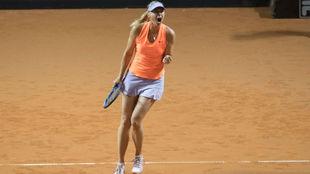 Sharapova celebra la victoria
