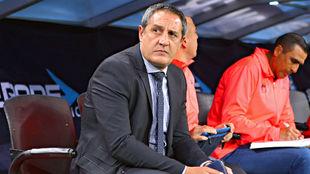 Pablo Marini, en un partido con Morelia en el Clausura 2017.