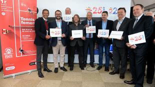 Presentación del torneo en el Barcelona Open Banc Sabadell