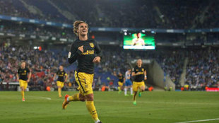 Griezmann celebra el gol de la victoria en el partido disputado el...