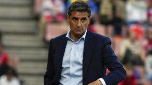 Michel, durante el partido ante el Granada