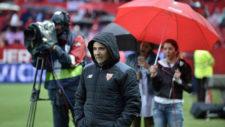 Jorge Sampaoli, durante el Sevilla-Celta de este jueves.
