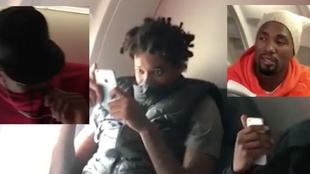 Reacción de los jugadores de los Raptors tras sufrir una flatulencia...
