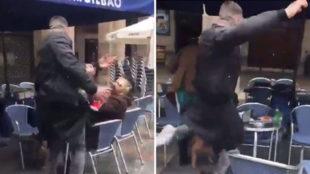 Un hincha del Betis agredi� a un hombre en Bilbao