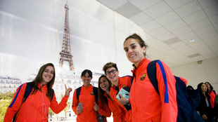 Las jugadoras de Barcelona Unzué, Miriam, Gemma, Ràfols y Melanie...