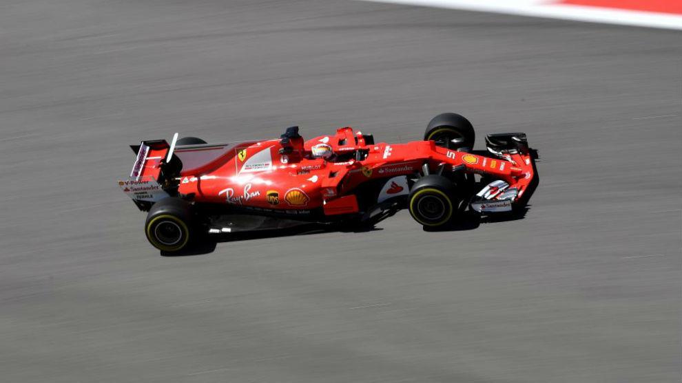 Sebastian Vettel, durante los primeros entrenamientos libres