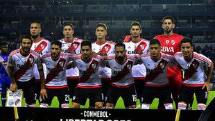 El once de River que venció a Emelec en Ecuador.
