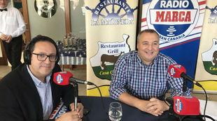 Vicente Ortega junto a Miguel Ángel Ramírez en el programa especial...